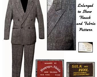 Vintage Fleck DoubleBreasted Suit / Gangster Suit / Swing Kid Suit / Rockabilly Suit / Zoot Suit