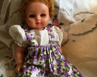 Vintage Rosebud Doll