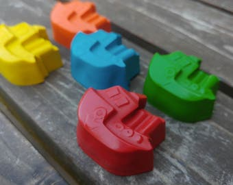 Boat Crayons Set of 5 - Party Favor - Sail Boat Crayons - Ocean Party Favors