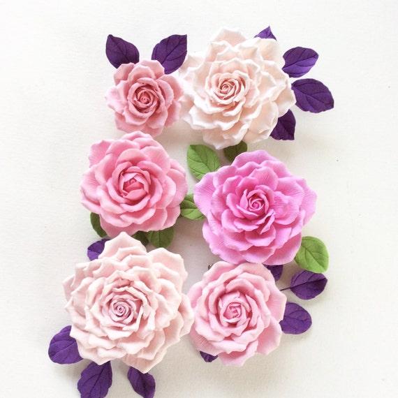 Pink rose. Brooch. Polymer clay flower.