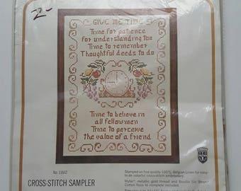 Bucilla Creative Needlecraft Cross Stitch Sampler, Give me Time Easy to do