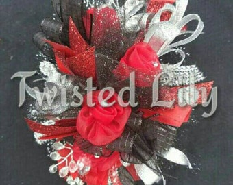 Romantic Red Wrist Corsage