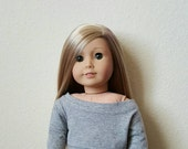 Slouchy Sweater 2.0 for 18 inch dolls by The Glam Doll - Grey