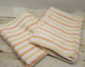 Set of 2 vintage pillowcases, Standard size, 1970s