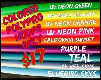 "17 Dollar 3/4"" Colored PolyPro Hula Hoop SALE! You choose size.  20 Color Options"