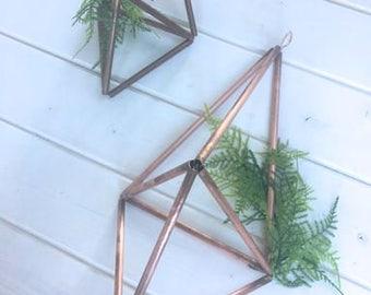 Copper Himmeli hanging wedding decor Geometric Copper decor