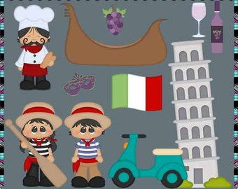 International Italy - Instant Download - Commercial Use Digital Clipart Set