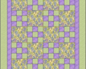 "Pattern ""Hop Scotch Quilt"" by Heirloom Elegance Designs Paper Pattern"
