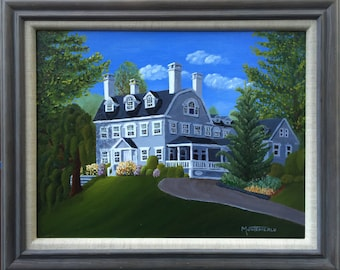 "Simsbury Inn,  Simsbury, CT.  Framed Original Oil Painting 14""x18"""