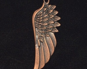 5 Pieces Large angel wing charm, angel wing pendant, Long wing charms, single-sided 58x22mm, antique copper wing 32-14-C