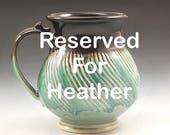 Handmade Pottery Mug Black and Green  Stoneware by Mark Hudak