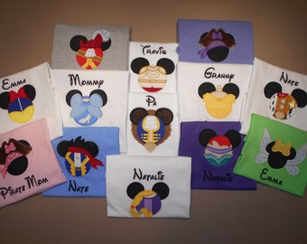 Disney Family Shirts Embroidery Mister Miss Mouse Family Vacation Clothes or Cruise Shirt - personalized - Mix n Match