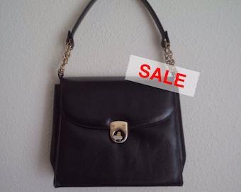 Vintage Leather Handbag I.MAGNIN 1960s
