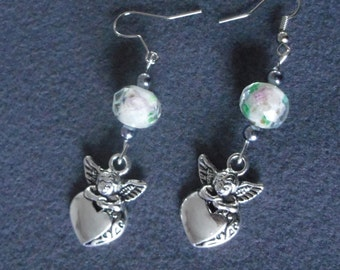 earring Pearl and Angel
