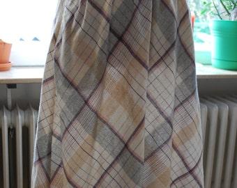Vintage 70's/80's Plaid Skirt Wool Blend