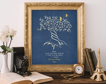 Gift for Mom from Daughter Wedding Gift Mom I CARRY your HEART Poem Wedding Day Gift for Mother Keepsake Gift Print Tree Thank You Gift8x10