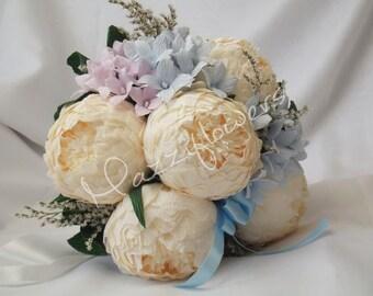 Wedding bouquet,Bridal bouquet,paper flower,flowers paper bouquet.lotus bouquet.peony bouquet.
