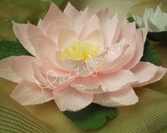 Wedding flowers lotus, water lily, 3 pcs. lotus, rustic flowers, wedding decor,paper flower decor,paper flowers lotus,party,Baby Shower.