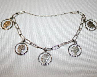 Antique Dutch Silver Coin Bracelet