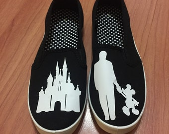 Walt Disney & Mickey Shoes. FREE PERSONALIZATION. Walt Disney and Mickey Walking. Walt Disney and Mickey Statue Shoes.