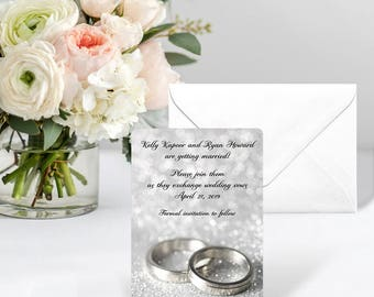 With This Ring - Card - Save the Date - Includes Back Side Printing + Envelope