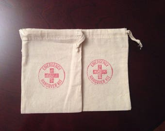 Emergency Hangover Kit Cotton Pouches