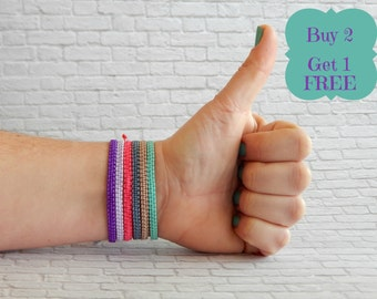 Friendship bracelet -Stackable bracelet - One macrame bracelet