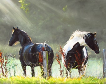 Horses in the Mist  canvas print