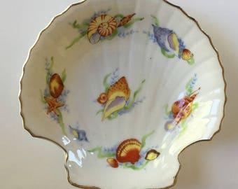 Shell Shaped Dish Vintage Bone China