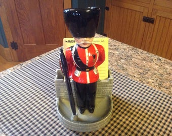 British Guard note pad and pen holder