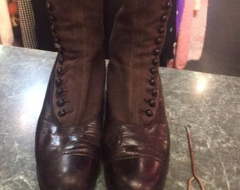 Victorian Black Boots
