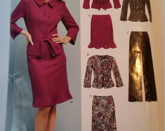 New Look Sewing Pattern 6412 Misses' Jacket, Skirt and Pants in Size 8, 10, 12, 14, 16, 18