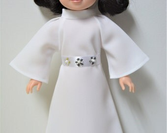 """Handmade Doll Clothes Star Wars Princess Leia Costume fits 14.5"""" American Girl Wellie Wishers Dolls"""