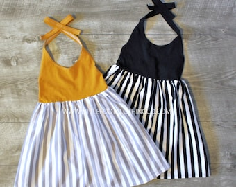 Girls halter dress, baby girl clothes, baby girl dress, halter dress, little girl dresses, toddler summer dress, girls summer dress, dresses