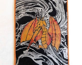 Dragon Fabric Postcard