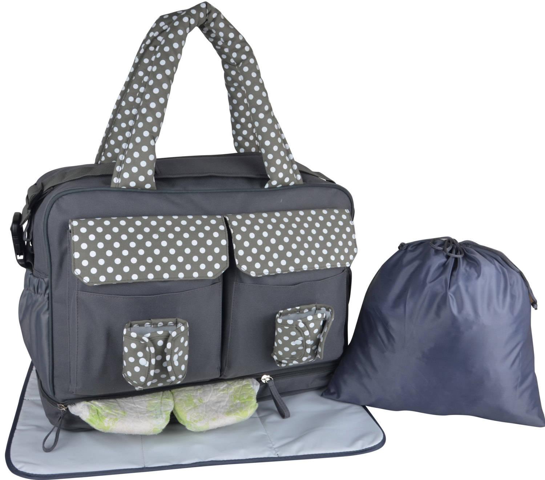twins diaper bag large messenger diaper bag in grey divided. Black Bedroom Furniture Sets. Home Design Ideas
