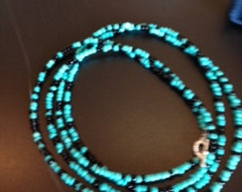 black and turquoise  necklace.