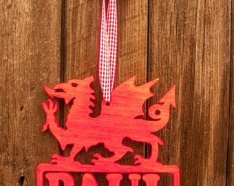 Welsh dragon m- Personalised