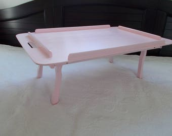 Pink Wooden Bed Tray at Ancient of Daze