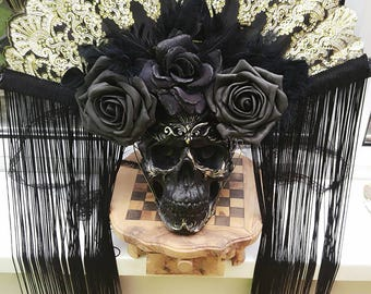 Gothic Headpiece. Shaman Headpiece.Gothic veil