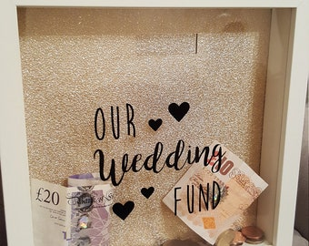 Beautiful Handmade Wedding Fund Money Box Saving Engagement Gift Love Personalised