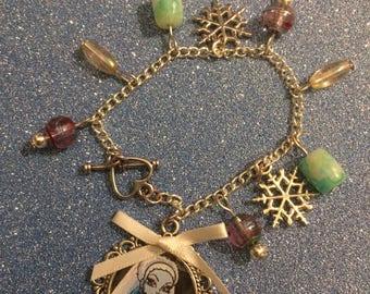 Abbey Bominable charm bracelet - monster high charm bracelet - handmade Christmas gift - Stocking filler