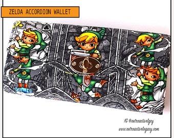 Custom Made Wallet - Handmade Wallet - Zelda Necessary Clutch Wallet - Zelda NCW - Handmade Clutch - Zelda Wallet - Handmade Link Wallet