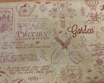 Patchwork Garden Moda Fabrics Kathy Schmitz Garden Tools Fabric One Yard/ Half Yard Cuts