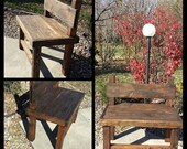 Unique Wooden Bench Related Items Etsy