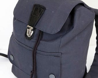 Dark Grey Backpack with Silver Findings