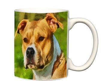 Pit Bull - Herculese - Ceramic Coffee/Latte Mug by DoggyLips  - 2 sizes