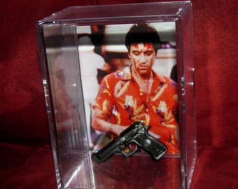 """L@@k~Scarface Collectible   (inspired by) display""""cool"""" for the collection.."""