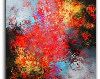 painting / contemporary art / original painting / modern art / abstract canvas art / art / wall art / Ready to hang / 100% Hand-Made.