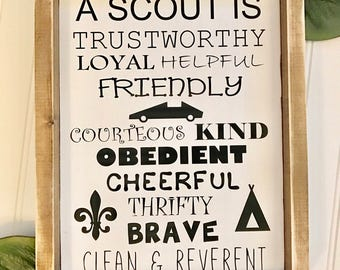 Boy Scout sign, Cub Scout sign, gift